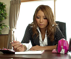 Office whore Sakura Kiryu gets her pussy ripped to shreds