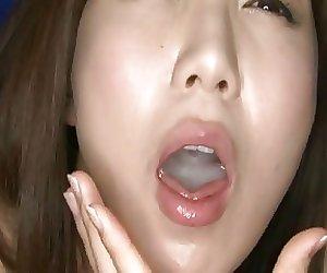 To drink sperm