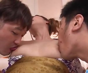 Special threesome Japanese sex play with Ai Suzuki